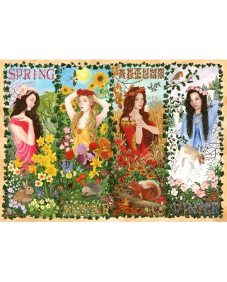 Puzzle The House of Puzzles - Four Seasons, 1.000 piese (60640)