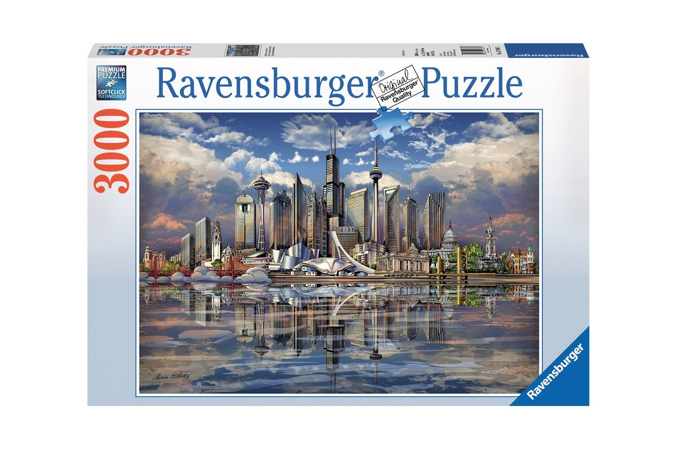 Puzzle Ravensburger - Orizonturi Din America De Nord, 3.000 piese (17066)