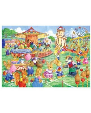 Puzzle The House of Puzzles - Funfair Games, 80 piese XXL (56936)