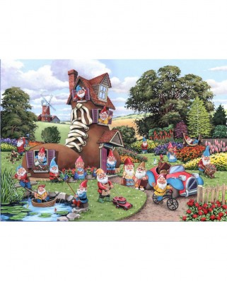 Puzzle The House of Puzzles - Gnome & Away, 500 piese XXL (65289)