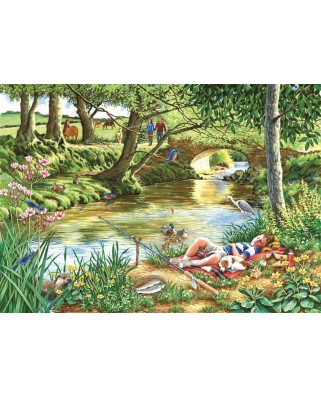 Puzzle The House of Puzzles - Gone Fishing, 500 piese XXL (56783)