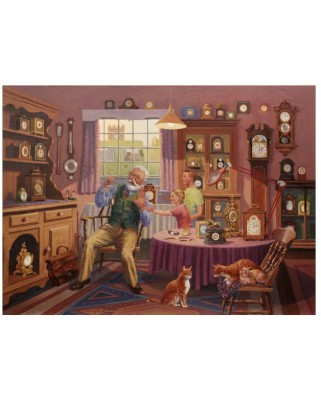 Puzzle The House of Puzzles - Grandfather Time, 1.000 piese (56684)