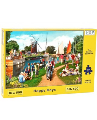 Puzzle The House of Puzzles - Happy Days, 500 piese XXL (65280)