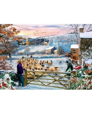 Puzzle The House of Puzzles - Herding The Flock, 500 piese XXL (65281)