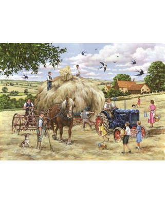 Puzzle The House of Puzzles - Making Hay, 500 piese XXL (65282)