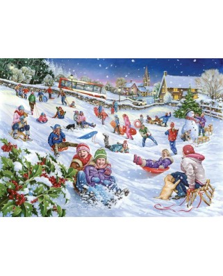 Puzzle The House of Puzzles - Sledging, 1.000 piese (56662)