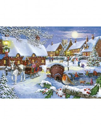 Puzzle The House of Puzzles - Sleigh Ride, 1.000 piese (65185)
