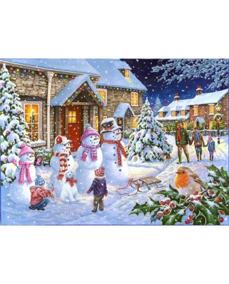 Puzzle The House of Puzzles - Snow Family, 1.000 piese (60650)