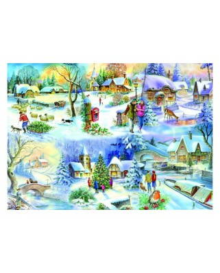 Puzzle The House of Puzzles - Snowy Afternoon, 500 piese XXL (56792)