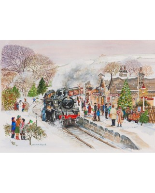 Puzzle The House of Puzzles - Steaming Along, 250 piese XXL (56904)