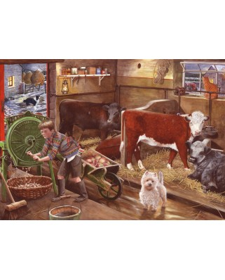Puzzle The House of Puzzles - Winter Feeding, 500 piese (63230)