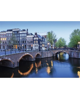 Puzzle Nathan - Amsterdam in the Course of the Water, 1.000 piese (62546)