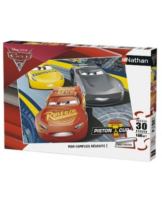 Puzzle Nathan - Cars 3, 30 piese (62477)