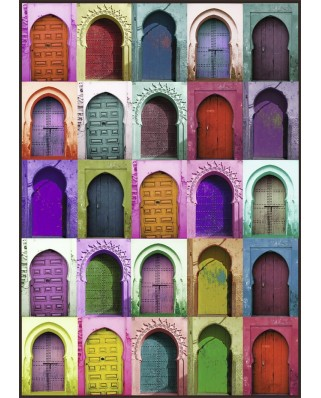 Puzzle Nathan - Colorful Doors, 1.500 piese (62551)