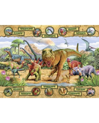 Puzzle Nathan - Dinosaurs, 150 piese (62509)