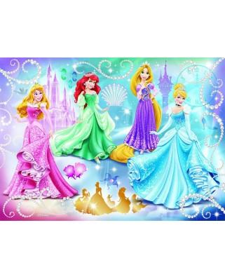 Puzzle Nathan - Disney Princess: Glittering Princesses, 100 piese (43516)