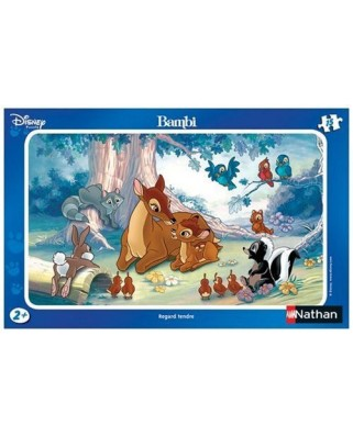 Puzzle Nathan - Disney: Bambi, tender look, 15 piese (43458)