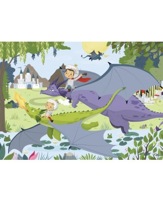 Puzzle Nathan - Dragons, 45 piese (62491)