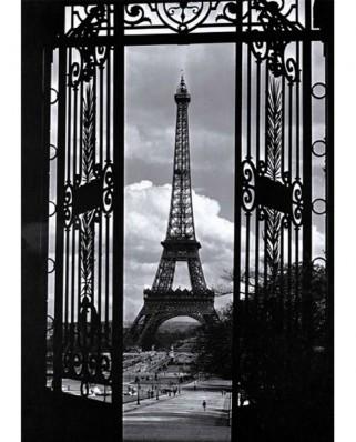 Puzzle Nathan - Eiffel Tower, Paris, 1.000 piese alb-negru (5732)