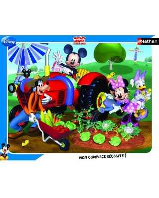 Puzzle Nathan - Mickey : Mickey and his Friends in the Garden, 35 piese (11081)