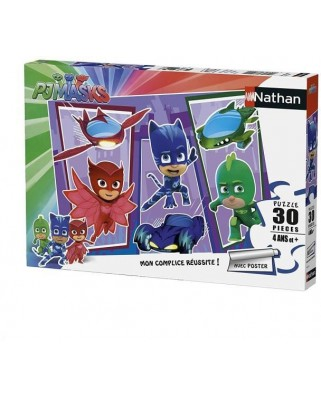 Puzzle Nathan - PJ Masks, 30 piese (62476)