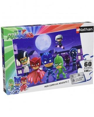 Puzzle Nathan - PJ Masks, 60 piese (62495)