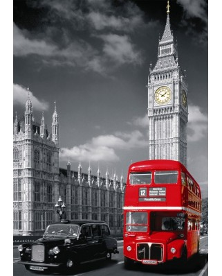 Puzzle Nathan - Red Bus in London, 1.500 piese (11491)
