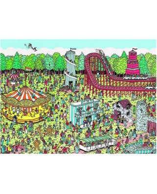 Puzzle Nathan - Where is Charlie? At the Funfair, 500 piese (12706)