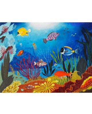 Puzzle din lemn Michele Wilson - Alain Thomas: Tropical Fish, 50 piese dificile (46244)