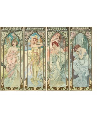 Puzzle din lemn Michele Wilson - Alfons Mucha: Alfons Mucha, 350 piese (56206)