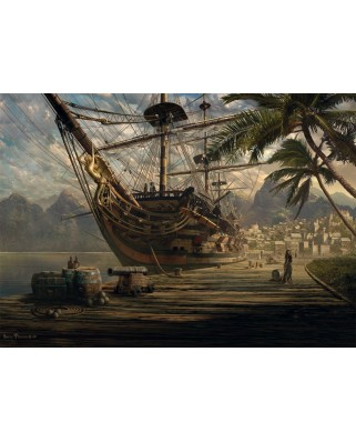 Puzzle Schmidt - Ship at Ancor, 1.000 piese (58183)