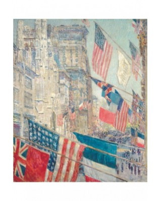 Puzzle din lemn Michele Wilson - Childe Hassam: Allies Day May 1917, 350 piese dificile (46252)