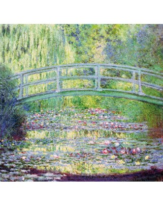 Puzzle din lemn Michele Wilson - Claude Monet: The Japanese Bridge, 80 piese dificile (5144)