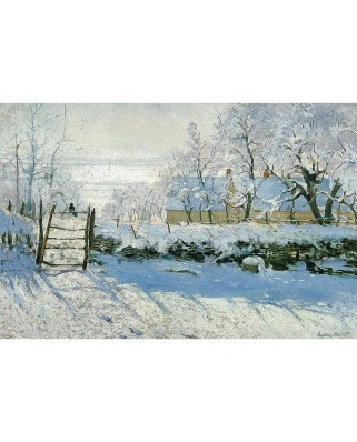 Puzzle din lemn Michele Wilson - Claude Monet: The Magpie, 80 piese dificile (399)