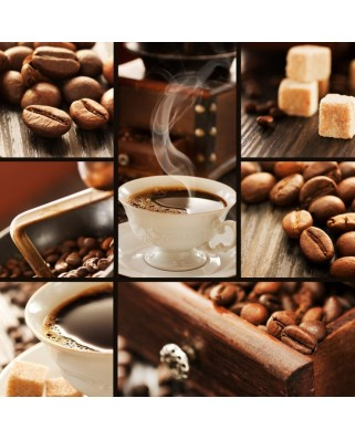 Puzzle din lemn Michele Wilson - Coffee Collage, 80 piese dificile (58604)