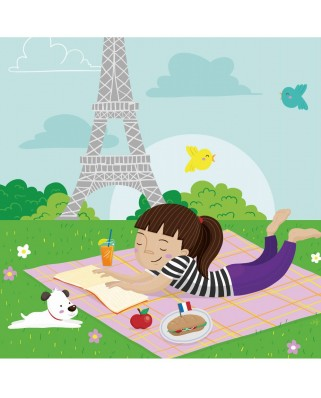 Puzzle din lemn Michele Wilson - Collection Paris: Picnic in Paris, 30 piese dificile (43675)