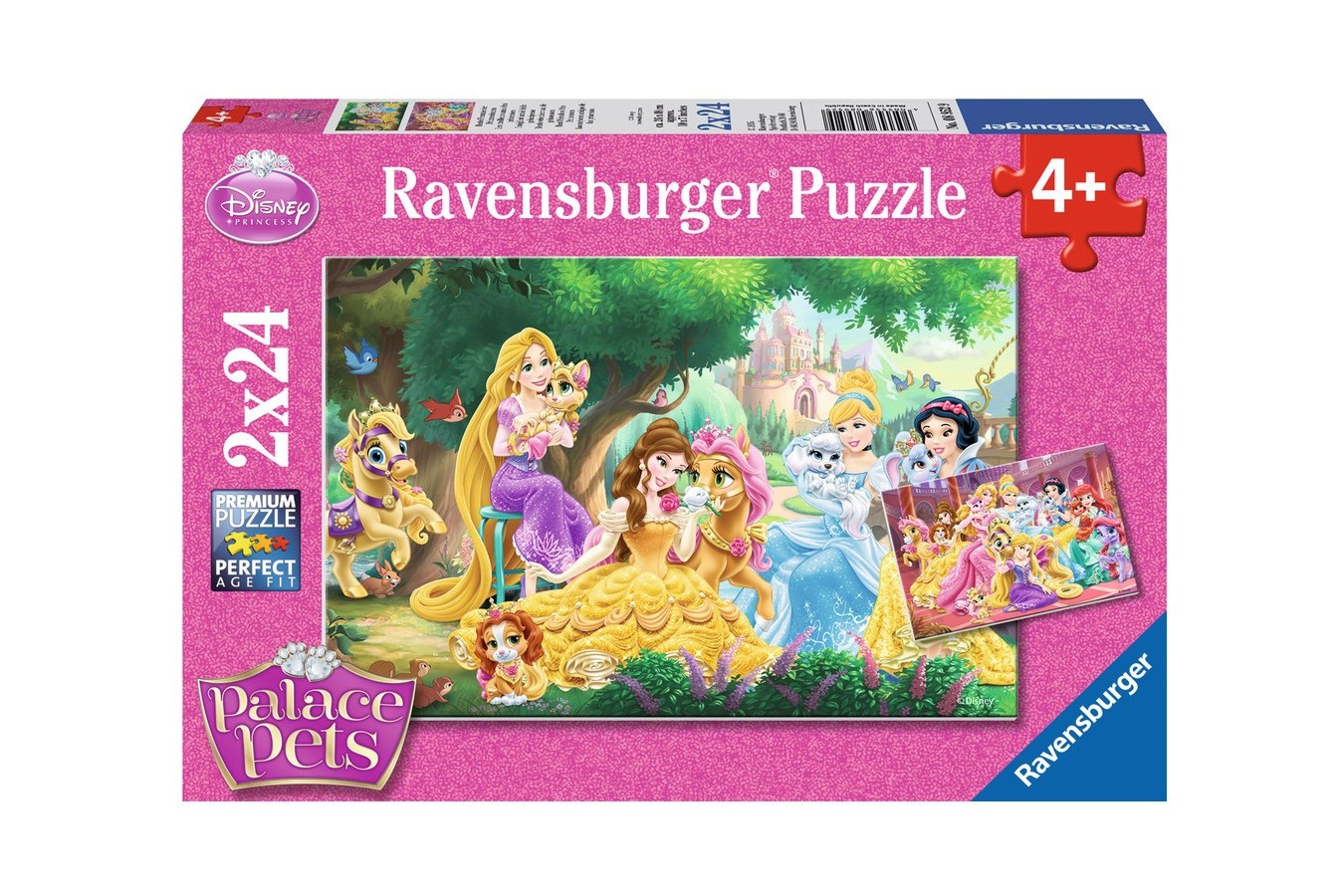 Puzzle Ravensburger - Palace Pets, 2x24 piese (08952)