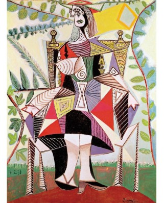 Puzzle din lemn Michele Wilson - Pablo Picasso: Woman in the Garden, 150 piese dificile (2968)
