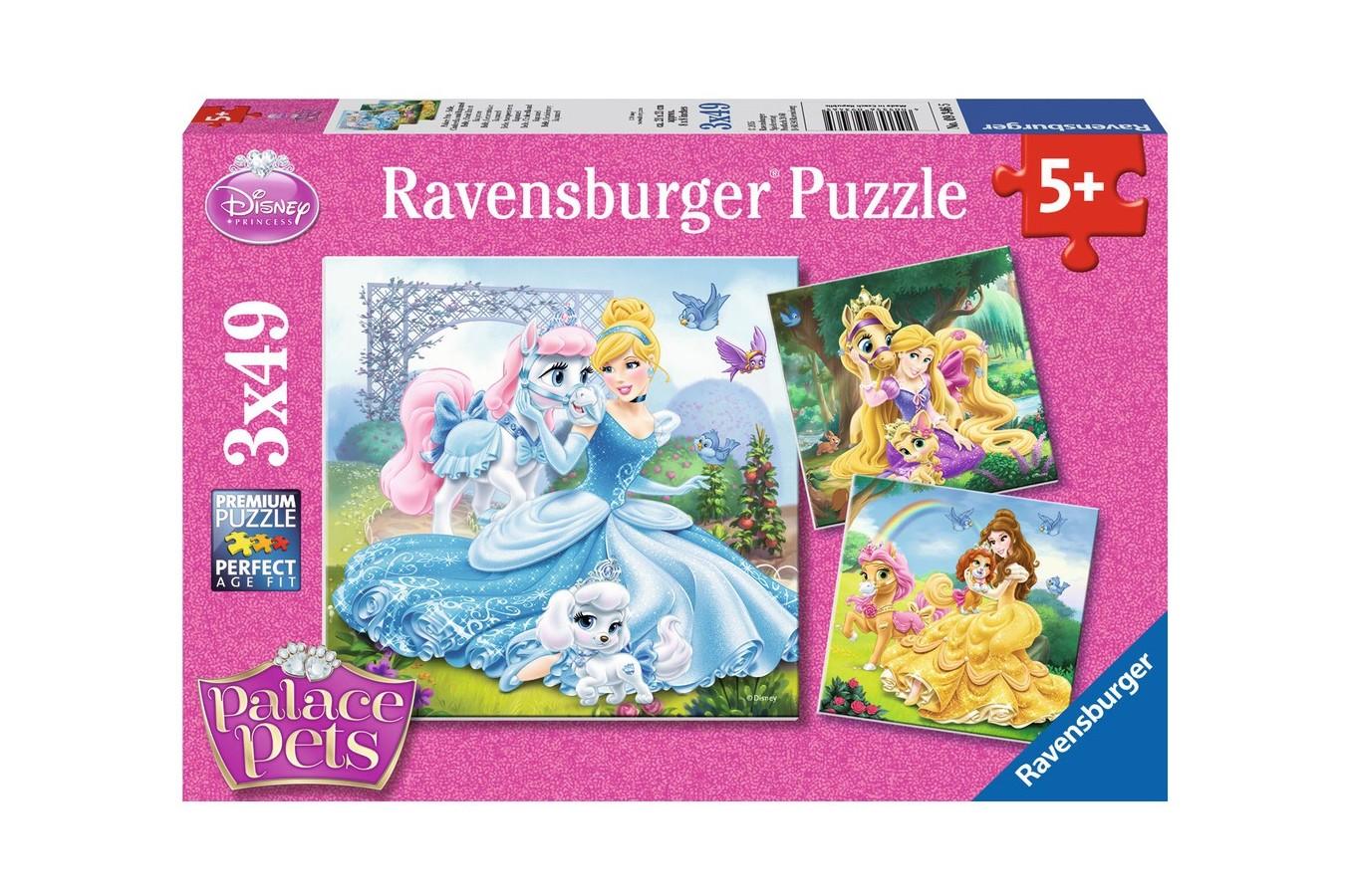 Puzzle Ravensburger - Palace Pets, 3x49 piese (09346)