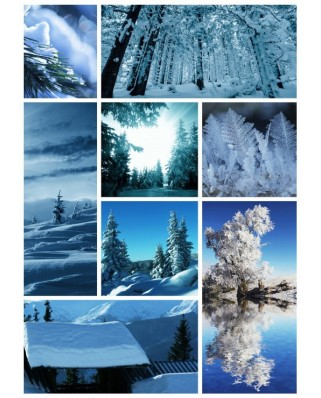 Puzzle din lemn Michele Wilson - Winter Collage, 150 piese dificile (58601)