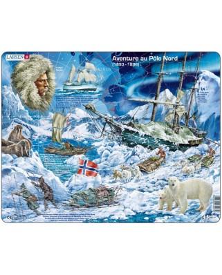 Puzzle Larsen - Abenteuer am Nordpol (auf Franzosisch), 65 piese (48778)