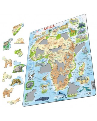 Puzzle Larsen - Africa (in French), 63 piese (59466)