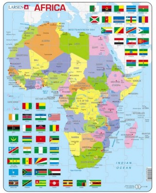 Puzzle Larsen - Africa Map (English), 70 piese (48741)