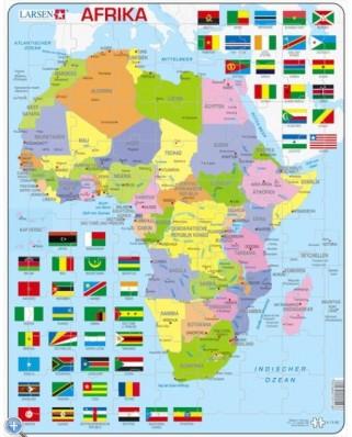 Puzzle Larsen - Africa Map, 70 piese (48453)