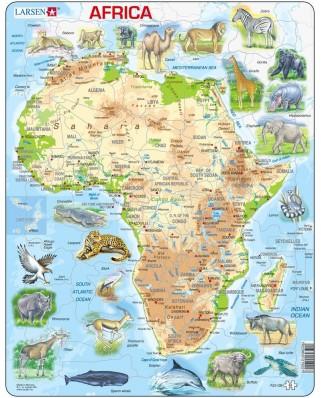 Puzzle Larsen - African (in German), 63 piese (48367)