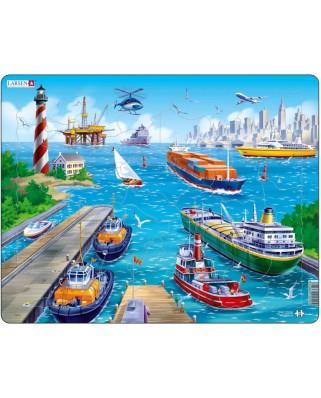 Puzzle Larsen - Am Hafen, 35 piese (48720)