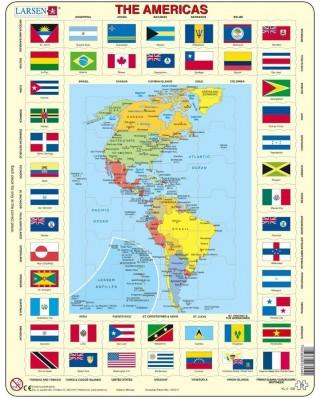 Puzzle Larsen - America + Flags, 70 piese (46036)