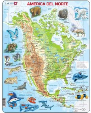 Puzzle Larsen - America del Norte, 66 piese (63259)