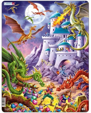 Puzzle Larsen - Angriff der Drachen!, 50 piese (48732)