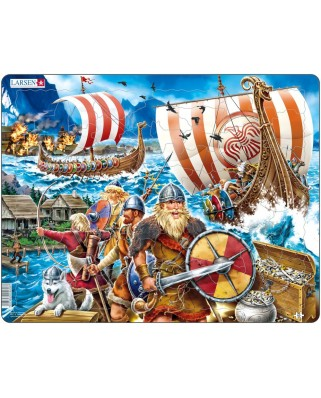 Puzzle Larsen - Angriff der Wikinger, 65 piese (48432)